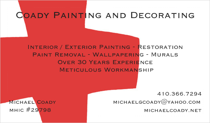 Painting Decorating Business Cards Examples Best
